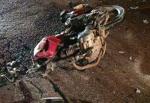 motociclista br-470 ilhota acidente